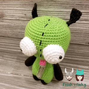 Original Size Gir the Mongoose Dog Crocheted Poppet Doll by Freak + Pocky