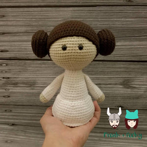 Original Size Leia the Galaxy Princess Crocheted Poppet Doll by Freak + Pocky