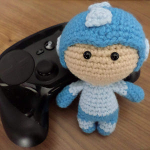 Mini Size Rock the Robot Crocheted Poppet Doll by Freak + Pocky