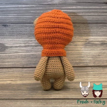 Load image into Gallery viewer, Original Size Ewok the Galaxy Bear Crocheted Poppet Doll by Freak + Pocky