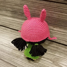 Load image into Gallery viewer, Mini Size Louise the Bunny Girl Crocheted Poppet Doll by Freak + Pocky