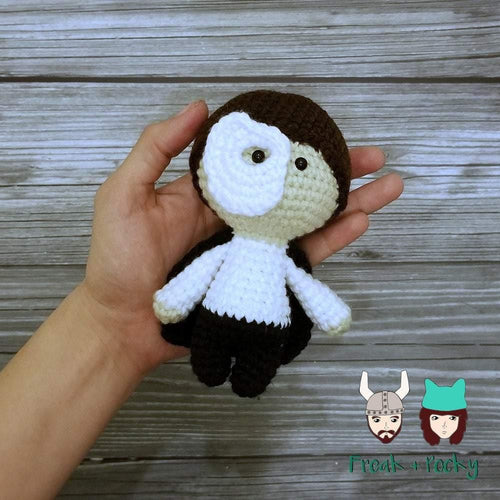 Mini Size Opera Ghost Crocheted Poppet Doll by Freak + Pocky