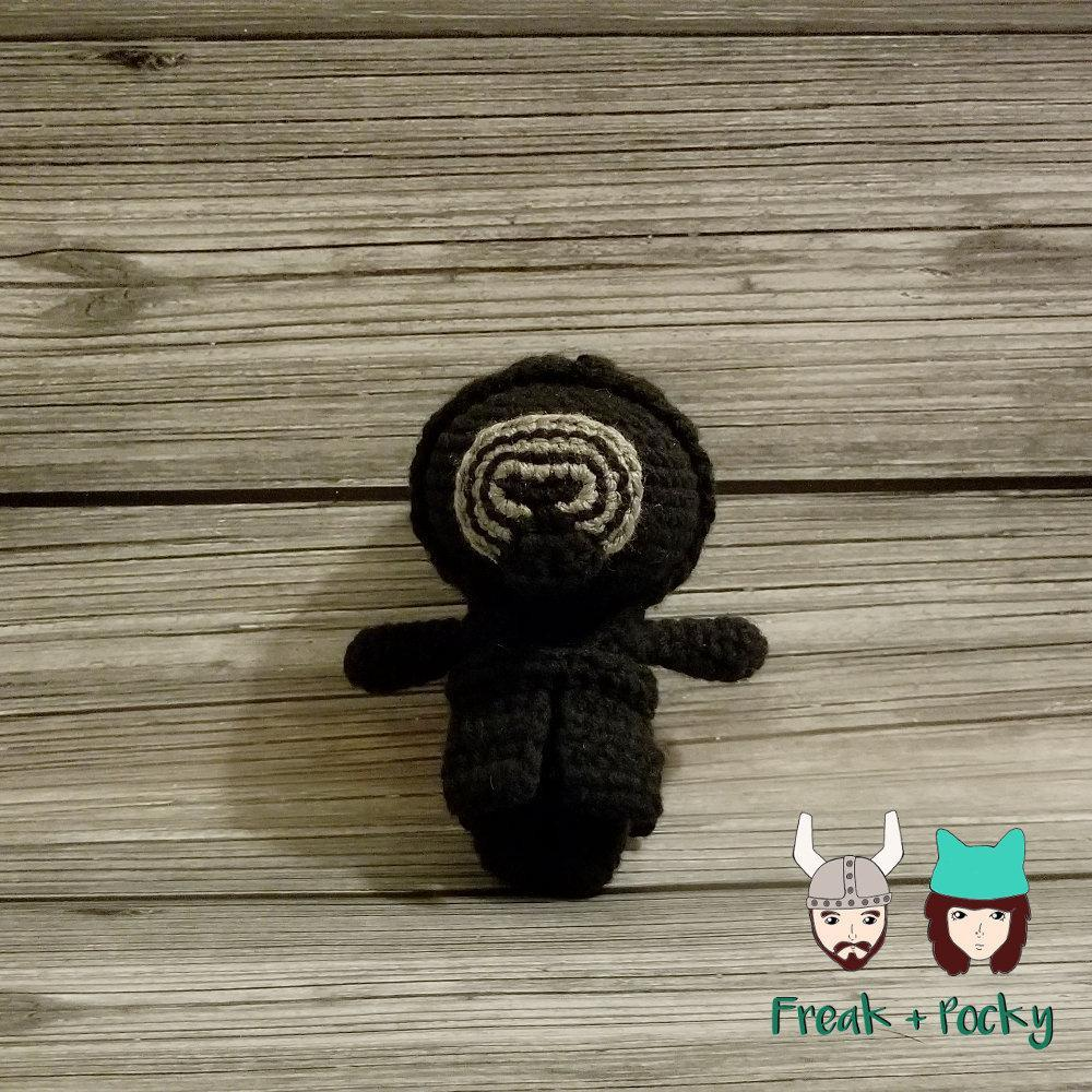Mini Size Kylo Ren the Galaxy Bad Boy Crocheted Poppet Doll by Freak + Pocky