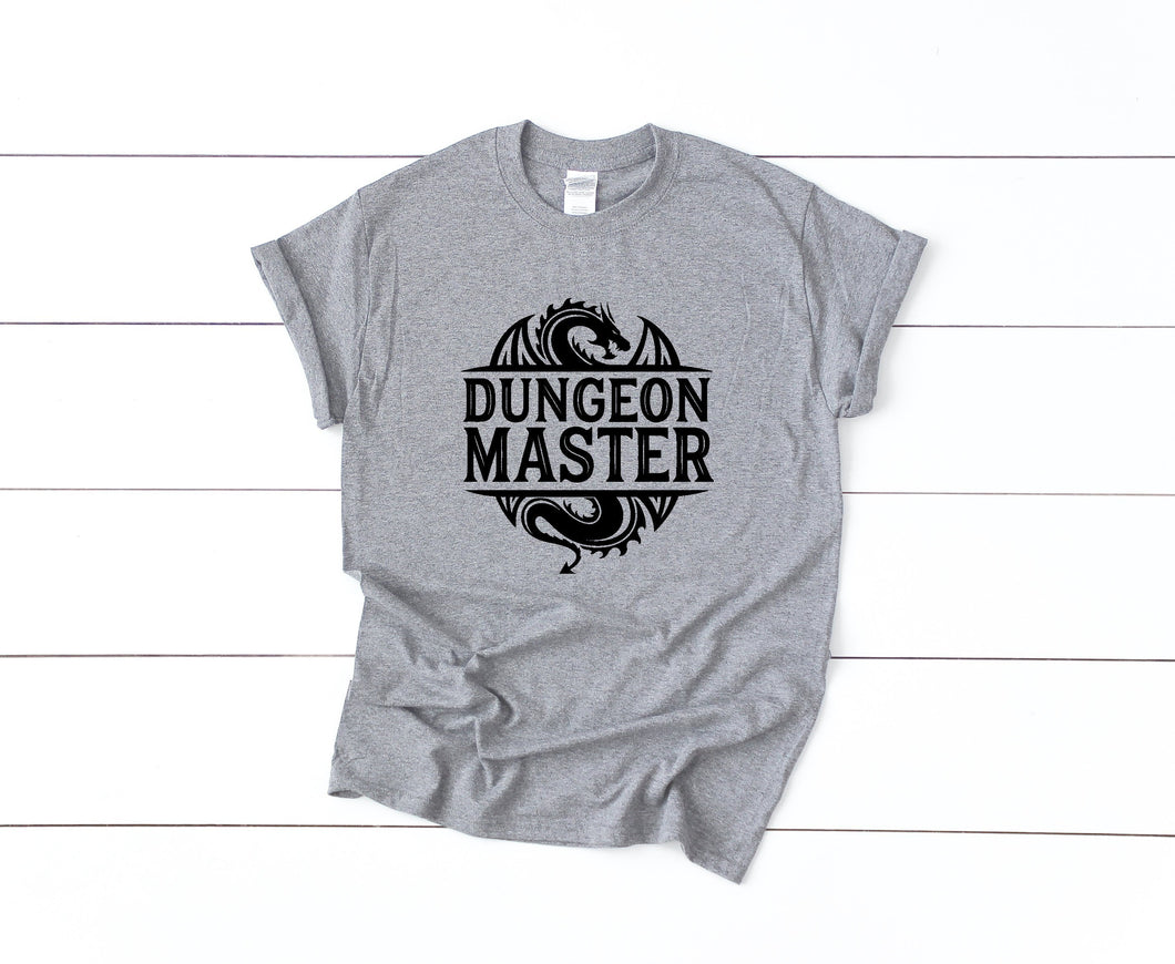 Dungeon Master on Gray T-Shirt by Freak + Pocky