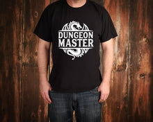 Load image into Gallery viewer, Dungeon Master on Black T-Shirt by Freak + Pocky