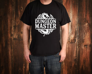 Dungeon Master on Black T-Shirt by Freak + Pocky