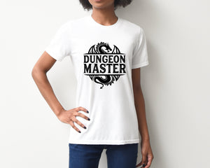 Dungeon Master on White T-Shirt by Freak + Pocky