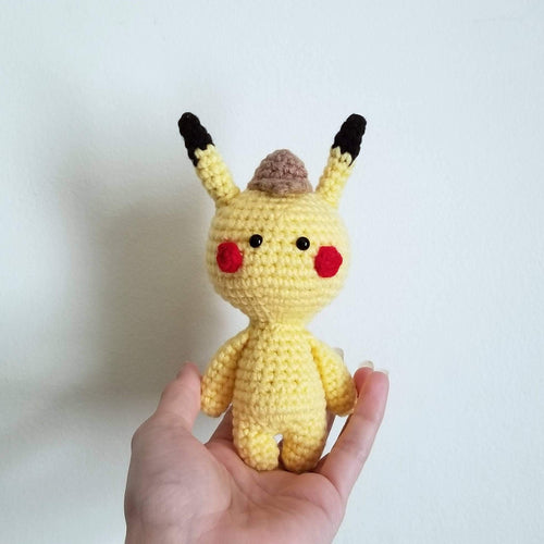 Mini Size Detective Pikachu Crocheted PoppetDoll by Freak + Pocky