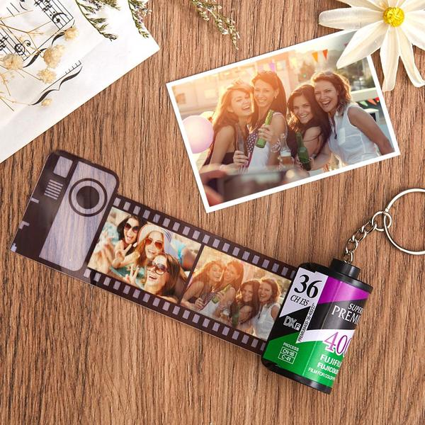 Custom Fuji Camera Roll Keychain Multiphoto Gifts - Friends