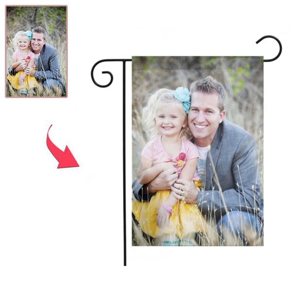 Custom Outdoor Family Photo Garden Flag  (12in x 18in)