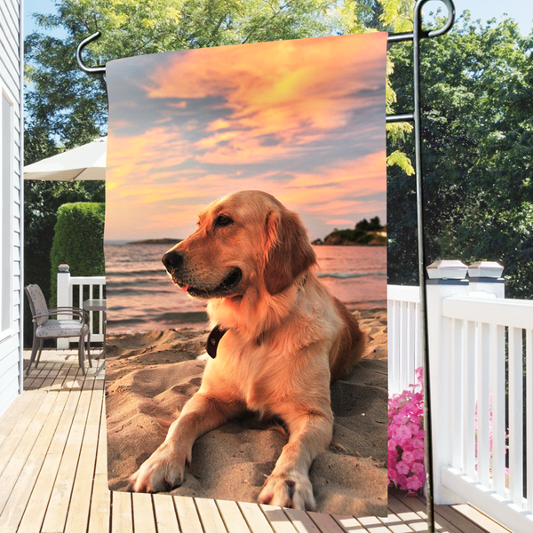 Custom Photo Outdoor Garden Flag-To My Dog  (12in x 18in)