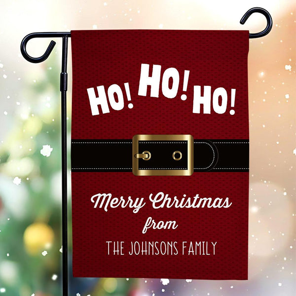 Custom Outdoor Christmas With Your Text Garden Flag