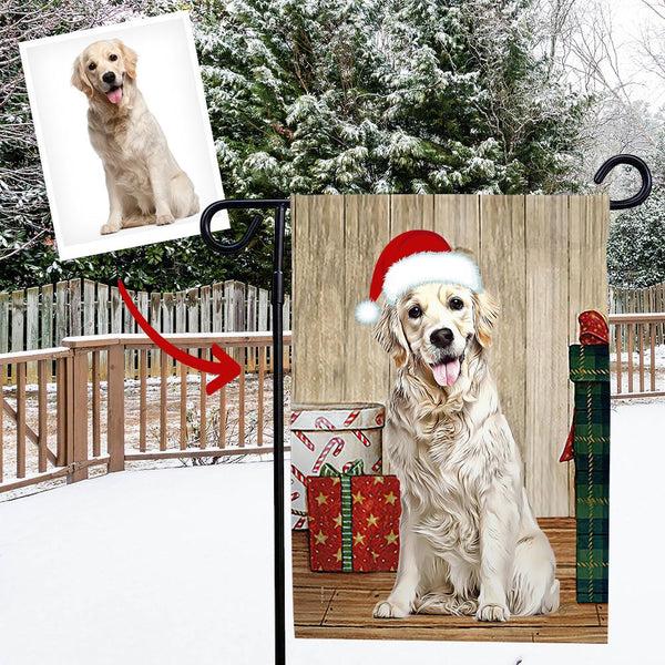Custom Outdoor Christmas Pet Winter Vertical Garden Flag