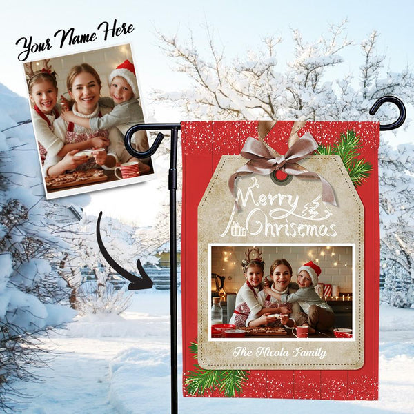 Custom Outdoor Merry Christmas With Your Text Garden Flag
