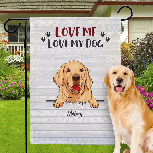 Custom Dog Garden Flag Personalized Name And Choose Your Best Dog Breed