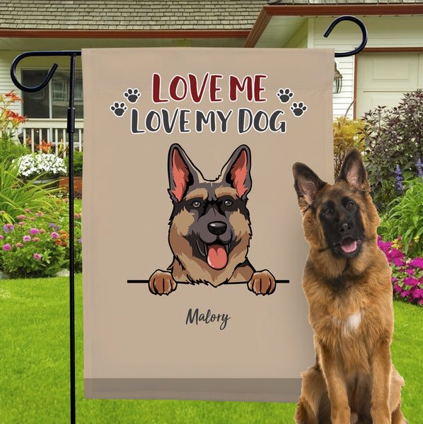 Personalized Dog Garden Flag With Choose Dog Name