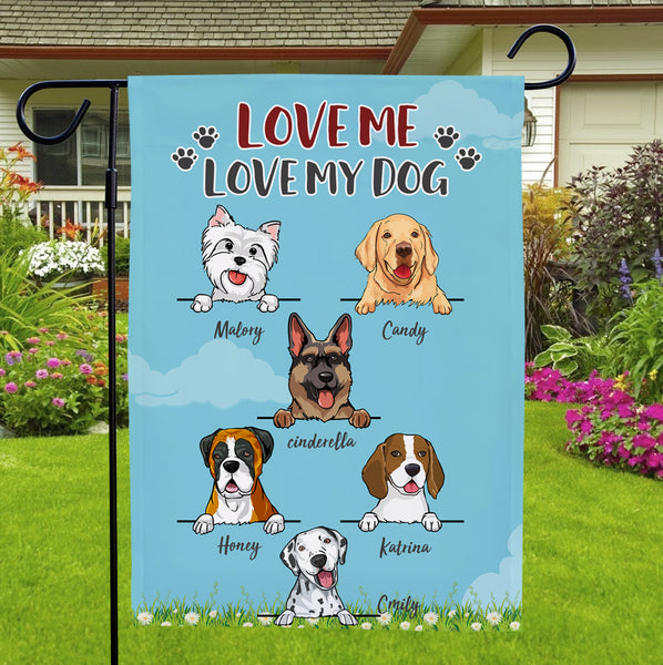 Custom Name Anime Dog Double-sided Garden Flag Home Decoration