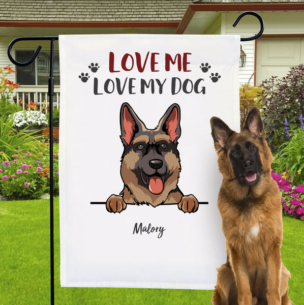 Custom Dog Garden Flag Personalized Name And Breed Choose Dog