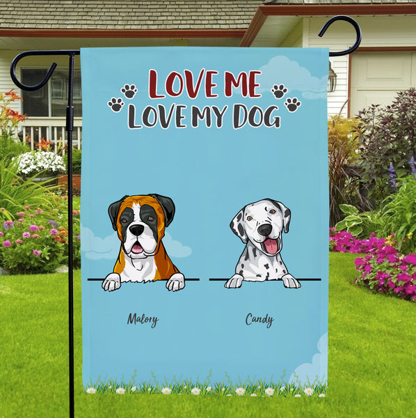 Custom Name Garden Flag With Personalized Choose Dog Number