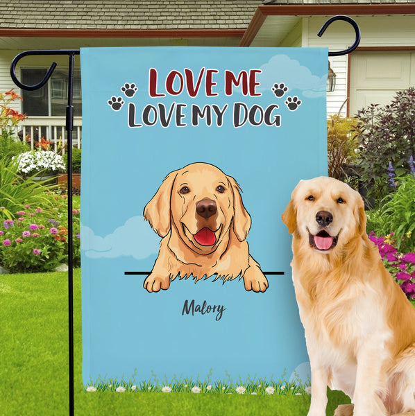 Custom Choose Dog Garden Flag With Personalized Name