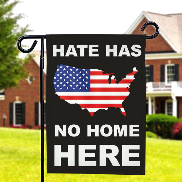 Hate Has No Home Here Garden Flag LGBT Flag Double Side-American Flag Garden Flag