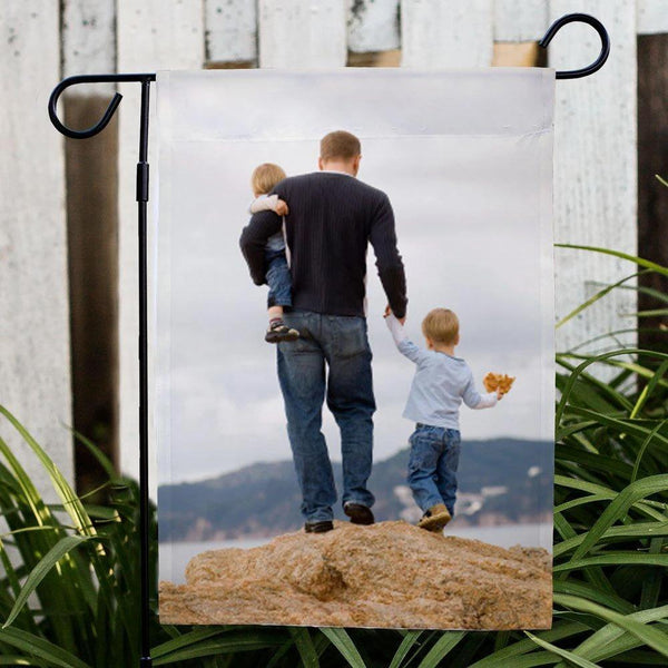 Custom Photo Outdoor Garden Flag Gift for Him (12in x 18in)