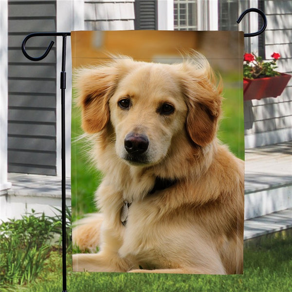 Custom Outdoor Dog Photo Garden Flag  (12in x 18in)