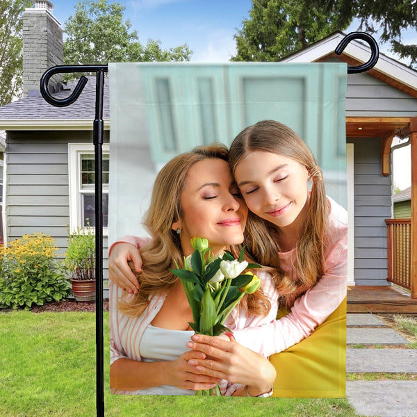 Custom Photo Outdoor Garden Flag Courtyard Flag Mother's Day Gift (12in x 18in)