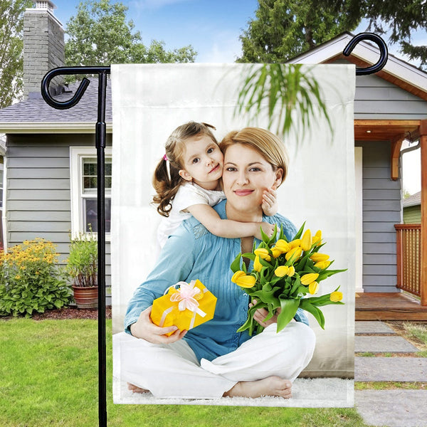 Custom Mother And Daughter Photo Outdoor Garden Flag Mother's Day Gift (12in x 18in)