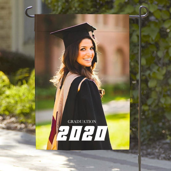 Custom Outdoor Graduation Photo Garden Flag Same As You Upload Photo (12in x 18in)