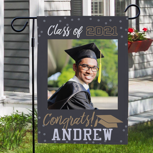 Personalized Garden Flags Outdoor Graduation Photo With Your Name Happy Graduation 2021(12.5in x 18in)