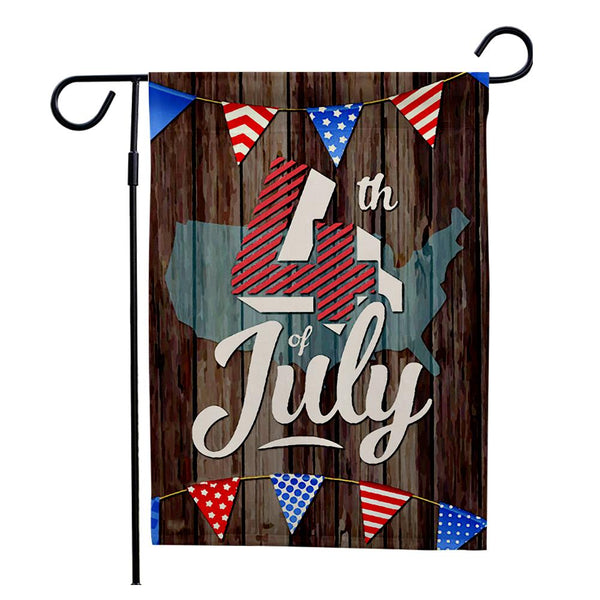 Outdoor 4th of July Americana Independence Day Garden Flag (12in x 18in)