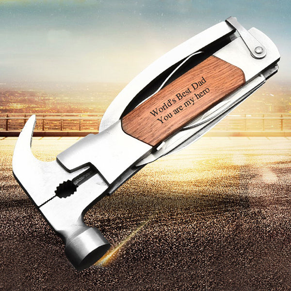 Father's Day Gift Personalized Engraved Hammer Multitool Custom Hammer Gifts For Men