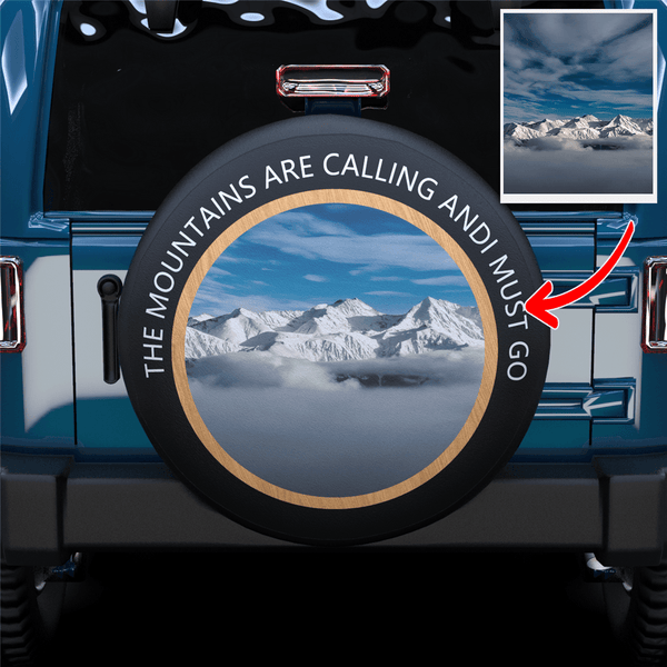 20% OFF THE 2ND-Custom Image & Text Spare Tire Cover For SUV