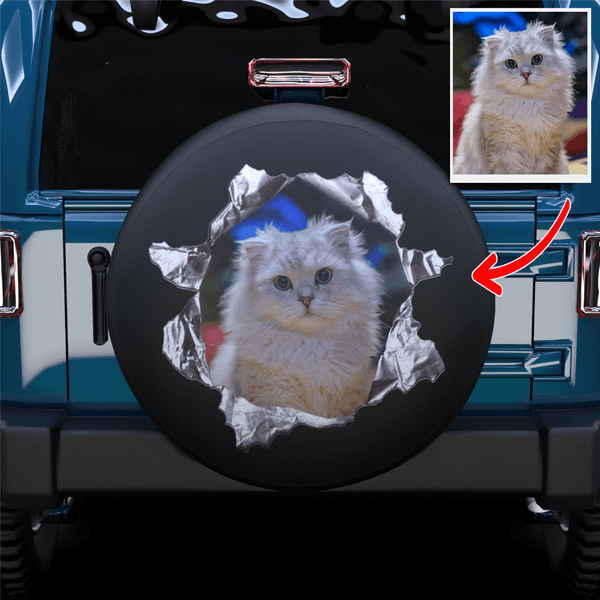 Extra 20% OFF THE 2ND-Custom Tearing Through Spare Tire Cover For SUV