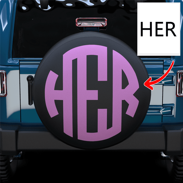 Extra 20% OFF THE 2ND-Custom Three Letters Spare Tire Cover
