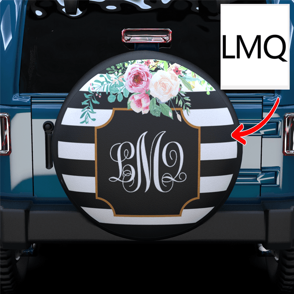 Extra 20% OFF THE 2ND-Custom Pattern Monogram Spare Tire Cover