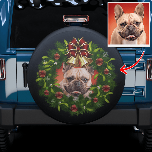 Custom Santa Wreath Spare Tire Cover For RV