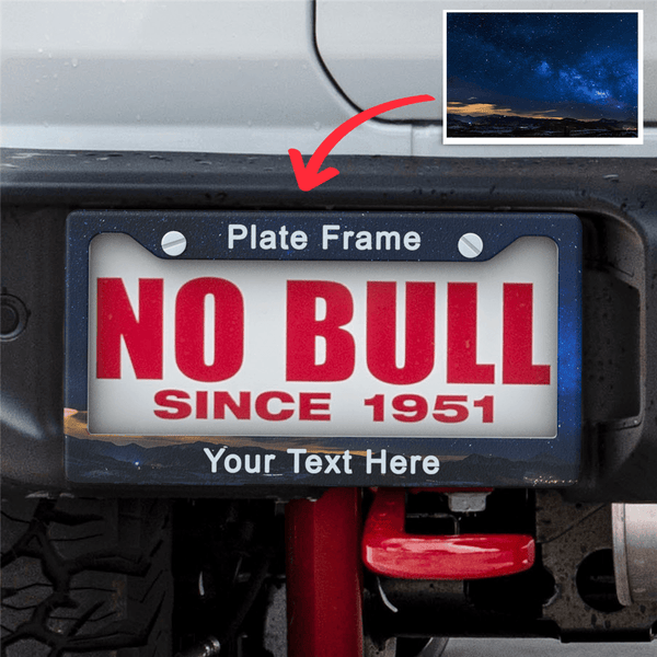 20% OFF THE 2ND-Custom Your Own Licence Plate With Text Frames (2ps)
