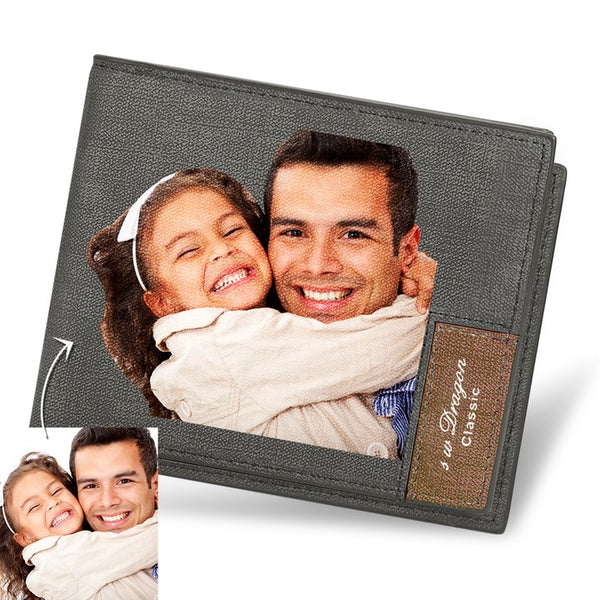 Father's Day Gifts - Custom Biffold Short Color Photo Wallet