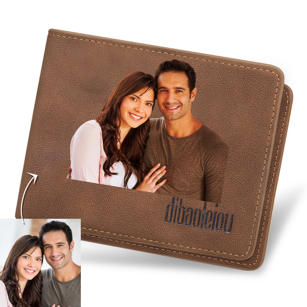Father's Day Gifts - Custom Color Photo Wallet
