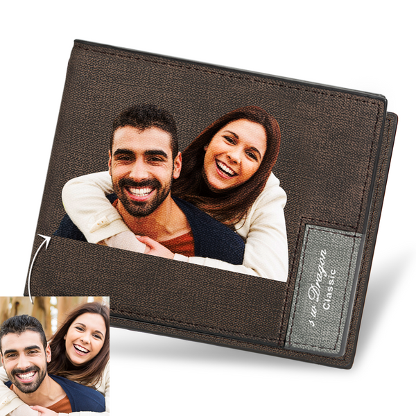 Father's Day Gifts - Custom Short Color Photo Wallet