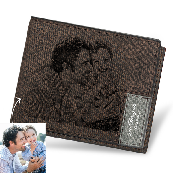 Father's Day Gifts - Custom Short Photo Wallet