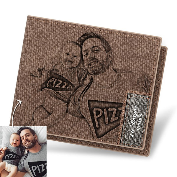 Christmas Gifts - Custom Brown Photo Wallet