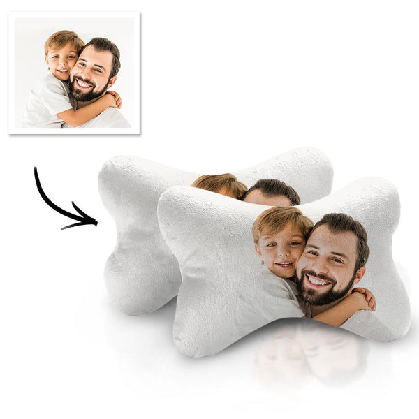 Custom Car Neck Pillow Father Theme With Your Photo