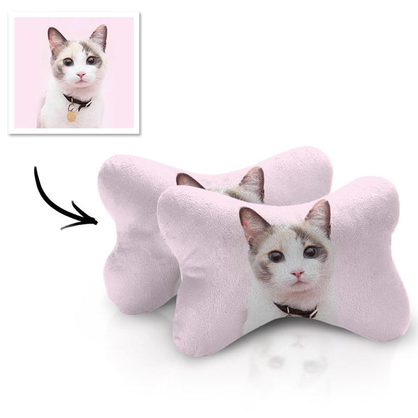 Custom Car Neck Pillow Cat Theme With Your Photo
