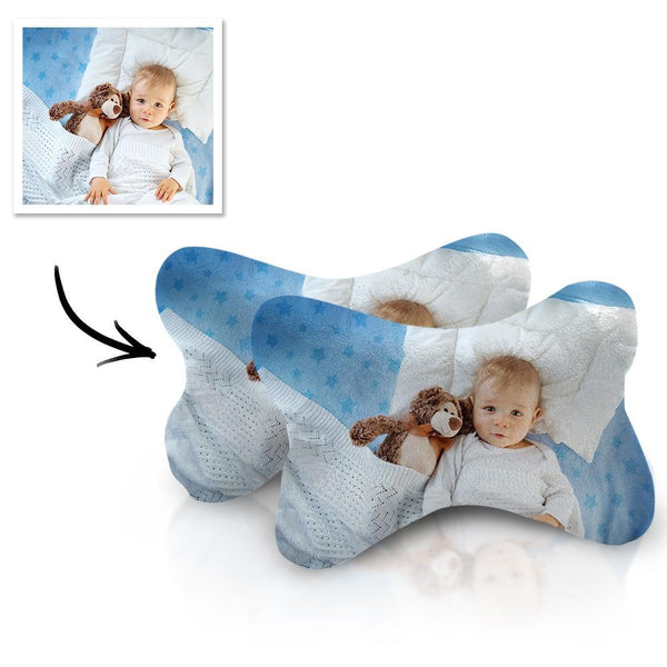 Custom Car Neck Pillow Baby Theme With Your Photo