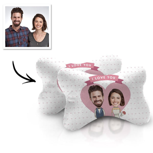 Custom Face Car Neck Pillow Couple Theme With Your Photo