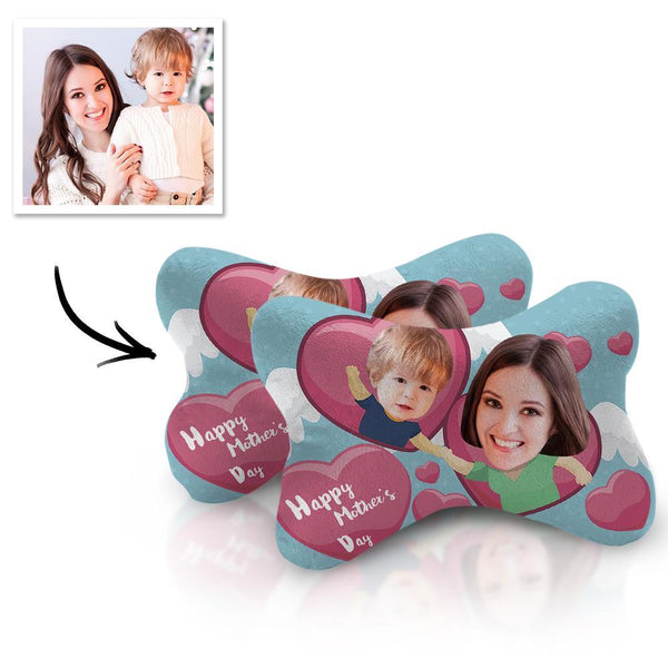 Custom Face Car Neck Pillow Mother Theme With Your Photo