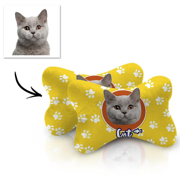 Custom Face Car Neck Pillow Cat Theme With Your Photo